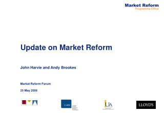 Update on Market Reform