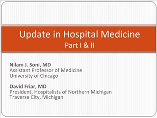 Update in Hospital Medicine Part I  II
