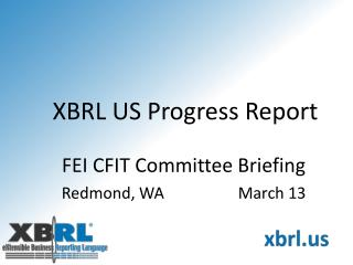 XBRL US Progress Report