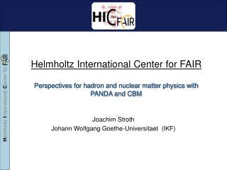Joachim Stroth Johann Wolfgang Goethe-Universitaet  (IKF)