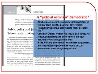 """Is """"judicial activism"""" democratic?"""