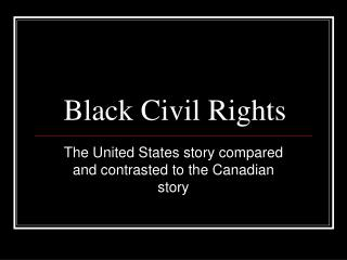 Black Civil Rights