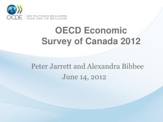 OECD Economic Survey of Canada 2012