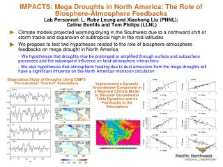 "Diagnostics Study of Droughts Using CMIP3 Pre-Industrial ""Control"" Simulations"