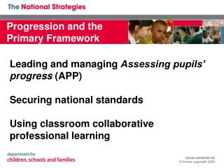 Progression and the Primary Framework
