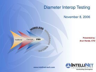 Diameter Interop Testing November 8, 2006