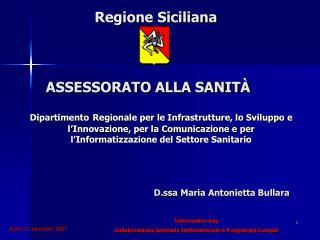 Regione Siciliana ASSESSORATO ALLA SANITÀ
