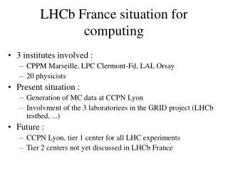 LHCb France situation for computing