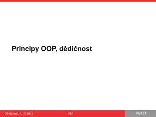 Principy OOP,  dědičnost