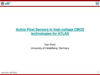 Active Pixel Sensors in high-voltage CMOS technologies for ATLAS