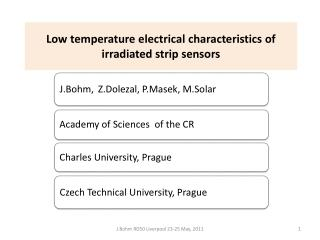 Low temperature electrical characteristics of irradiated strip sensors