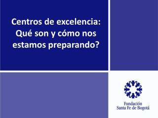 Centros de excelencia: Qué son y cómo nos estamos preparando?
