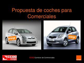 Propuesta de coches para  Comerciales
