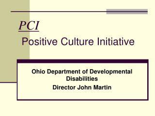 PCI Positive Culture Initiative