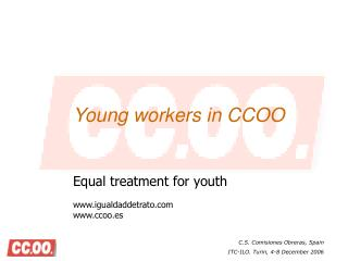 Young workers in CCOO