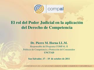 El rol del Poder Judicial en la  aplicaci ón del Derecho  de  Competencia