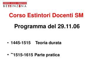 Corso Estintori Docenti SM