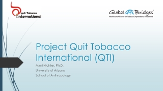 Tobacco Use Cessation Survey Results