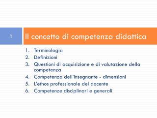 Il concetto di competenza didattica