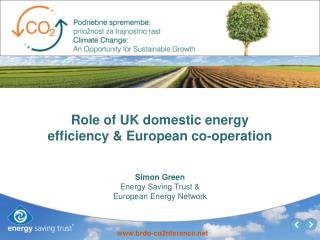 Role of UK domestic energy efficiency & European co-operation
