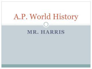 A.P. World History