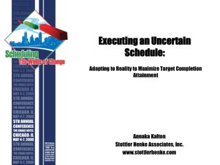 Executing an Uncertain Schedule: