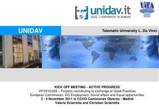 Telematic University L. Da Vinci