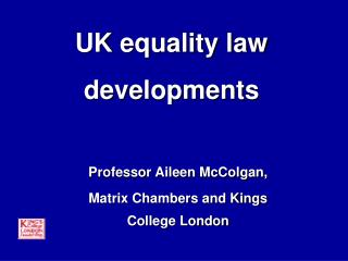 UK equality law developments
