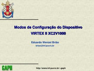 Modos de Configuração do Dispositivo VIRTEX II XC2V1000