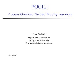 POGIL: Process-Oriented Guided Inquiry Learning