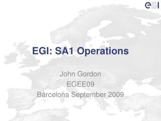 EGI: SA1 Operations
