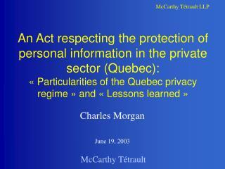 Charles Morgan June 19, 2003