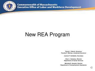 New REA Program