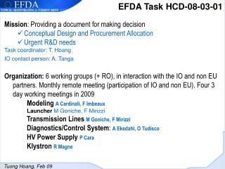 EFDA Task HCD-08-03-01