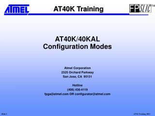 AT40K/40KAL Configuration Modes