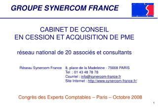 GROUPE SYNERCOM FRANCE