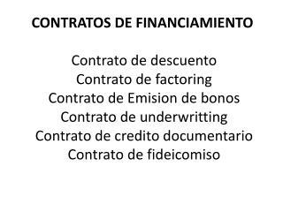 Contrato de descuento