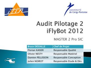 Audit Pilotage 2 iFlyBot  2012