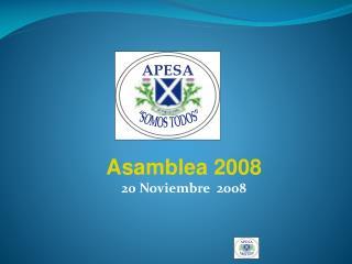 Asamblea 2008 20 Noviembre  2008