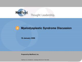 Myelodysplastic Syndrome Discussion