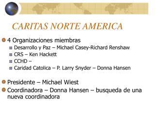 CARITAS NORTE AMERICA