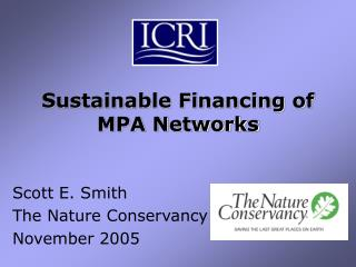 Sustainable Financing of  MPA Networks