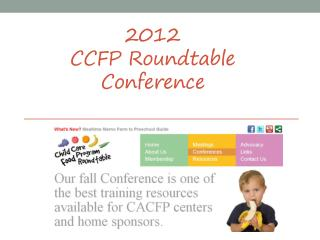 2012  CCFP Roundtable  Conference