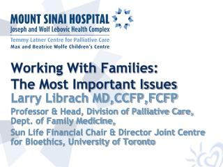 Working With Families: The Most Important Issues