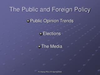 The Public and Foreign Policy