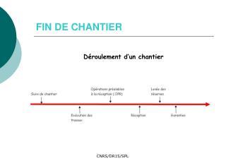 FIN DE CHANTIER
