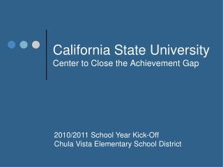 California State University Center to Close the Achievement Gap