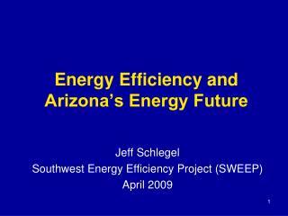 Energy Efficiency and Arizona's Energy Future