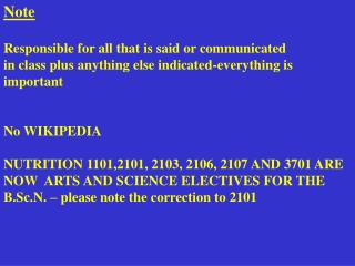 Note Responsible for all that is said or communicated