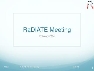 RaDIATE Meeting